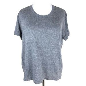 adidas Tech Tee Womens XL Gray Heather Workout Top